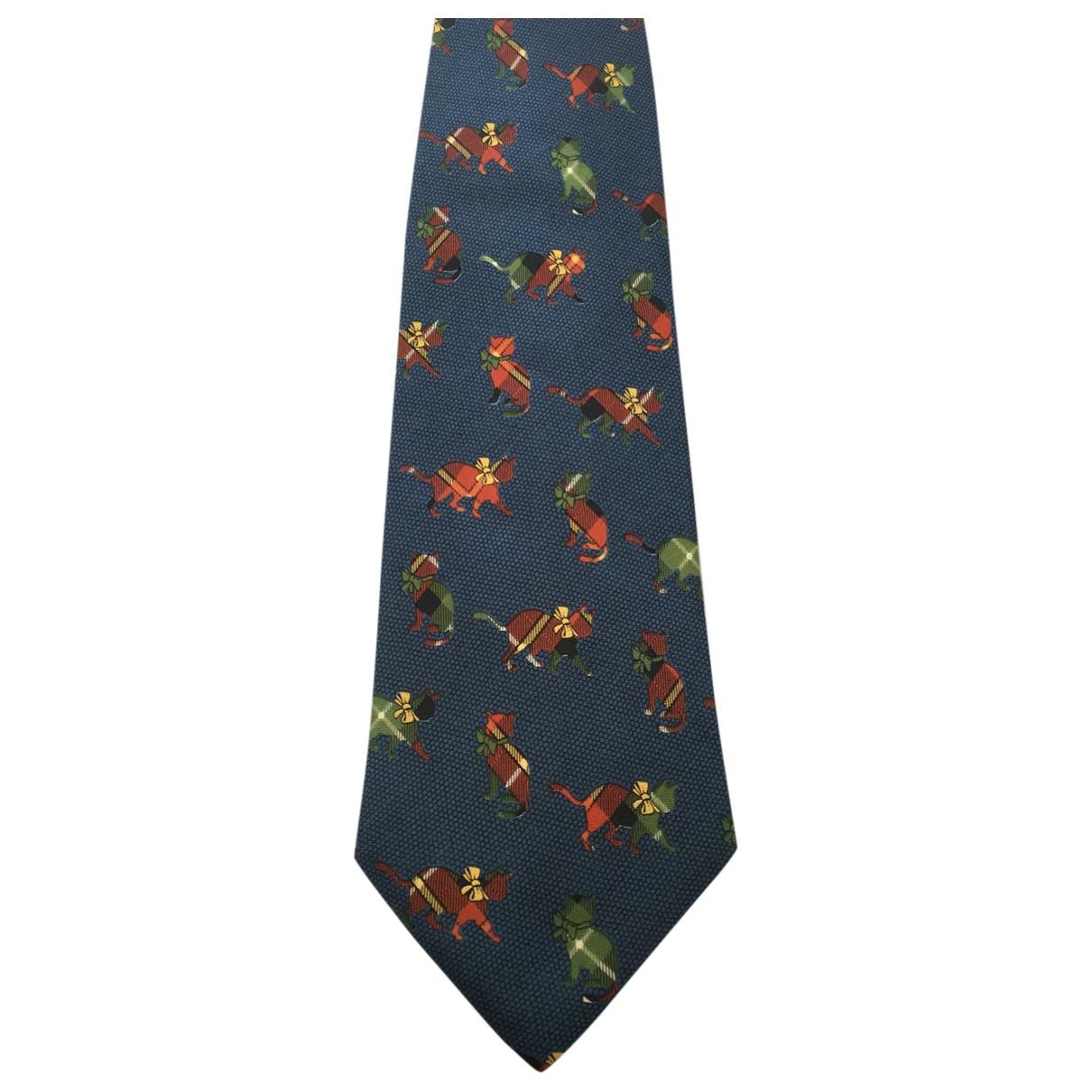 Fendi \N Krawatten in  Blau Seide