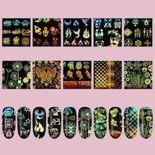 10 Blaetter Nagelaufkleber mit Schmetterling Muster