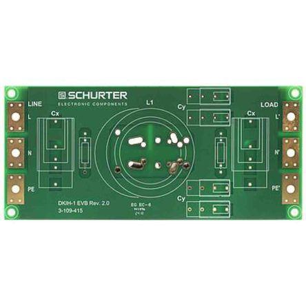 Schurter , DKIH-EVB 50A 250 V ac, 425 V dc Power Line Filter, Solder 1, 3 Phase (20)