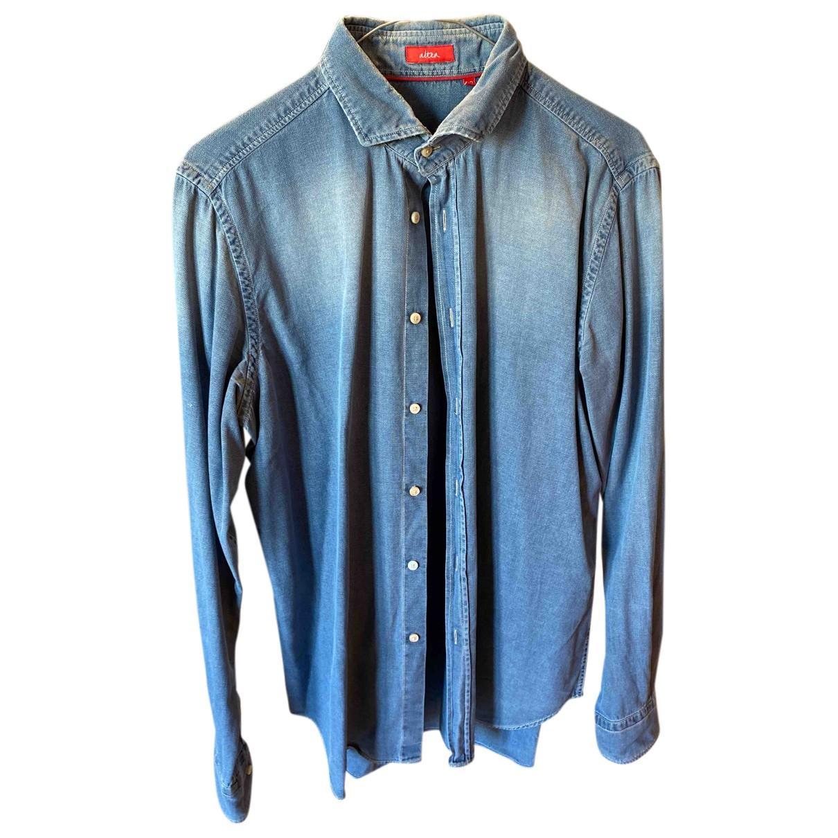 Altea - Chemises   pour homme en coton - bleu