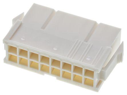 Molex , Mini-Fit Jr Male Connector Housing, 4.2mm Pitch, 16 Way, 2 Row (10)