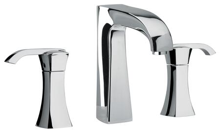 11214-120 Two Lever Handle Widespread Lavatory Faucet With Arched Spout  Polished Gold
