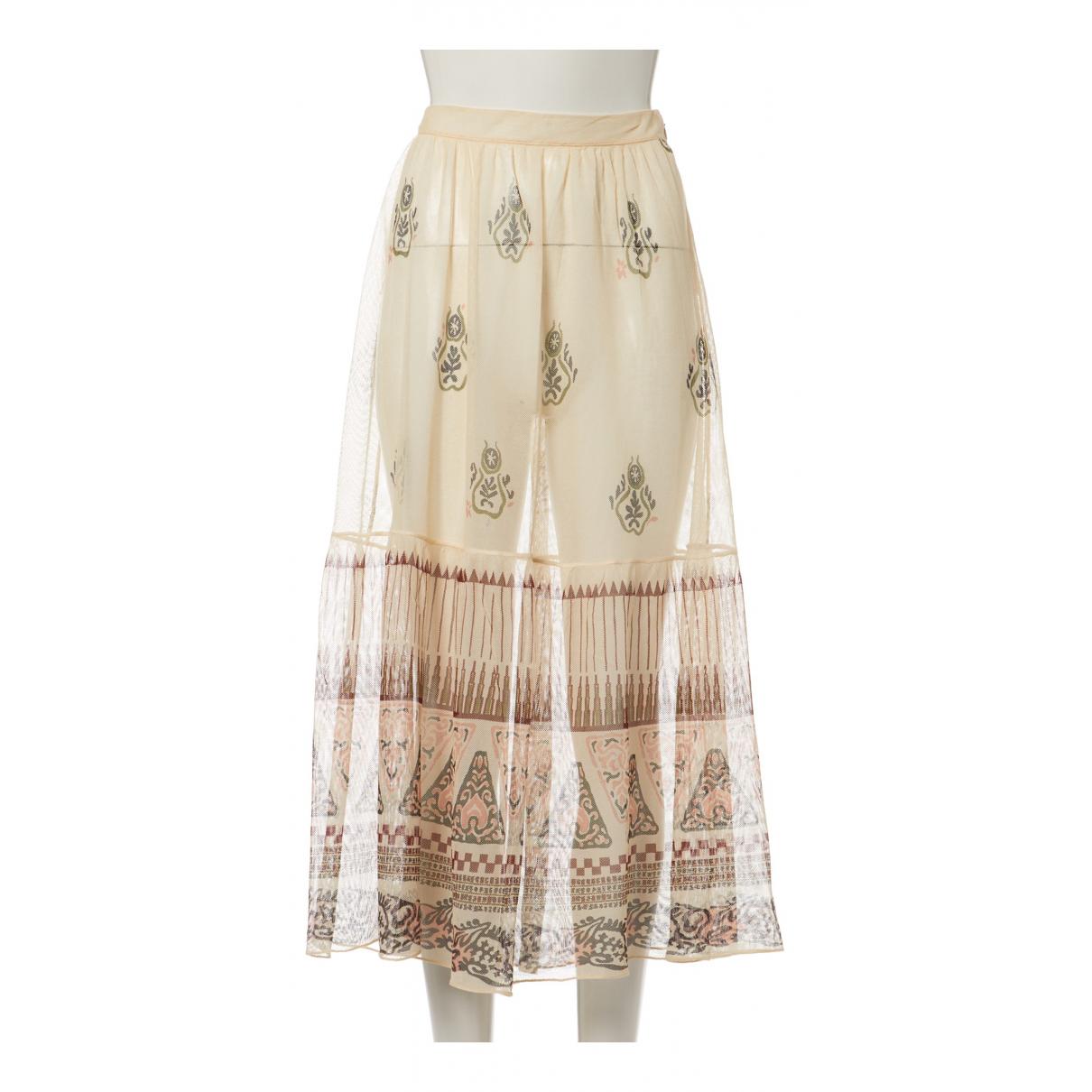 Christian Dior - Jupe   pour femme en soie - multicolore