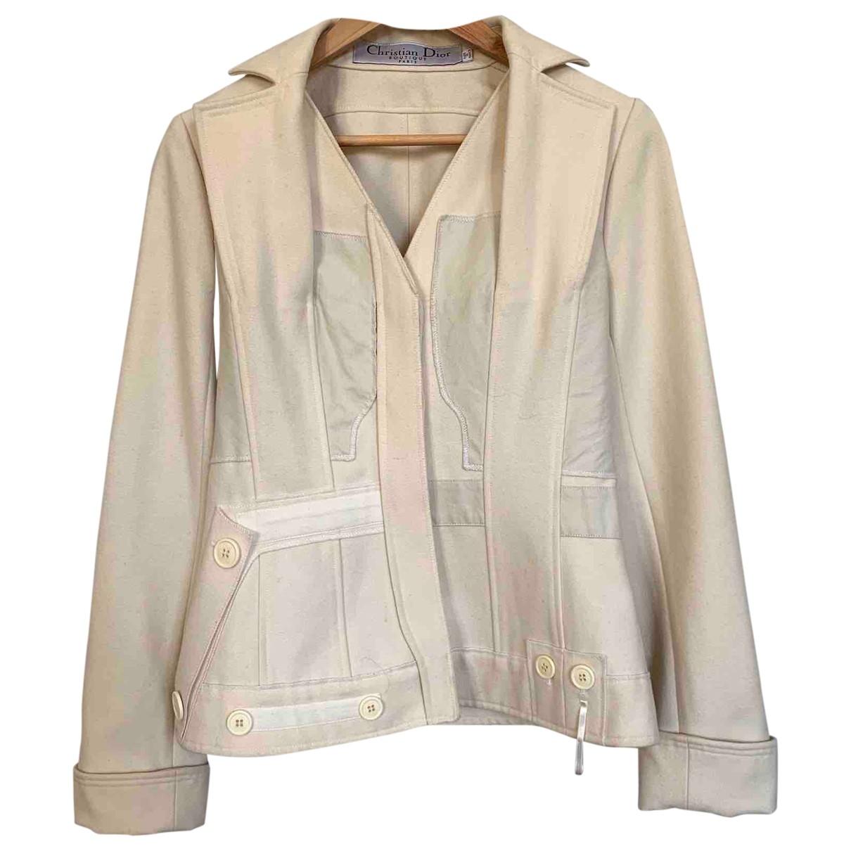 Dior - Manteau   pour femme en laine - ecru