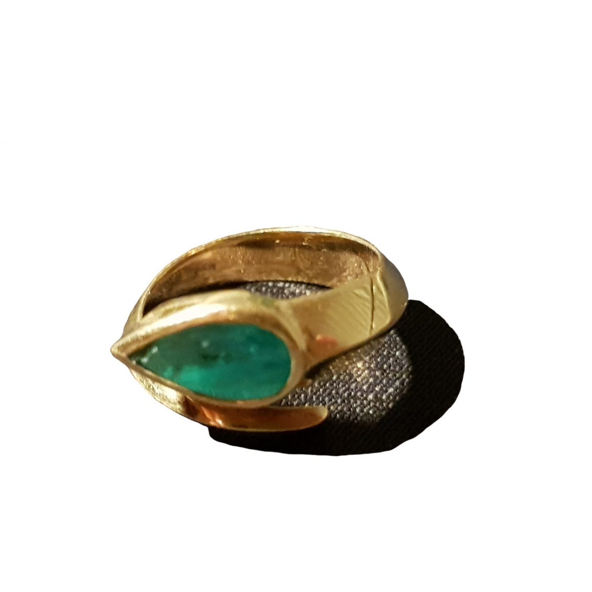 - Bague Emeraude pour femme en or jaune - vert