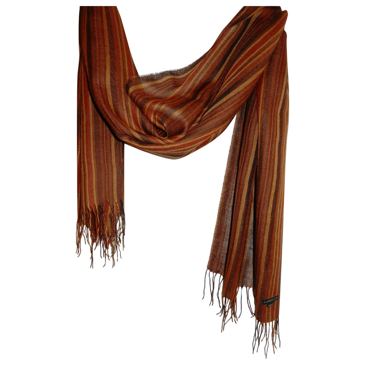 Non Signé / Unsigned \N Brown Silk scarf for Women \N