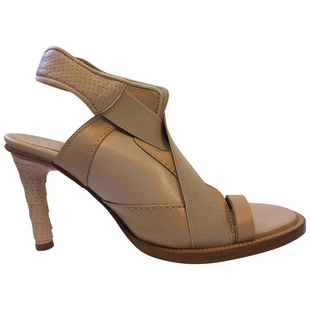 Lacoste \N Sandalen in  Beige Leder