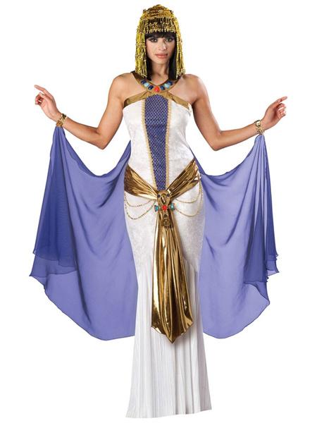 Milanoo Disfraz Halloween Traje de poliester de Halloween Muticolor antiguo egipcio Cleopatra Halloween