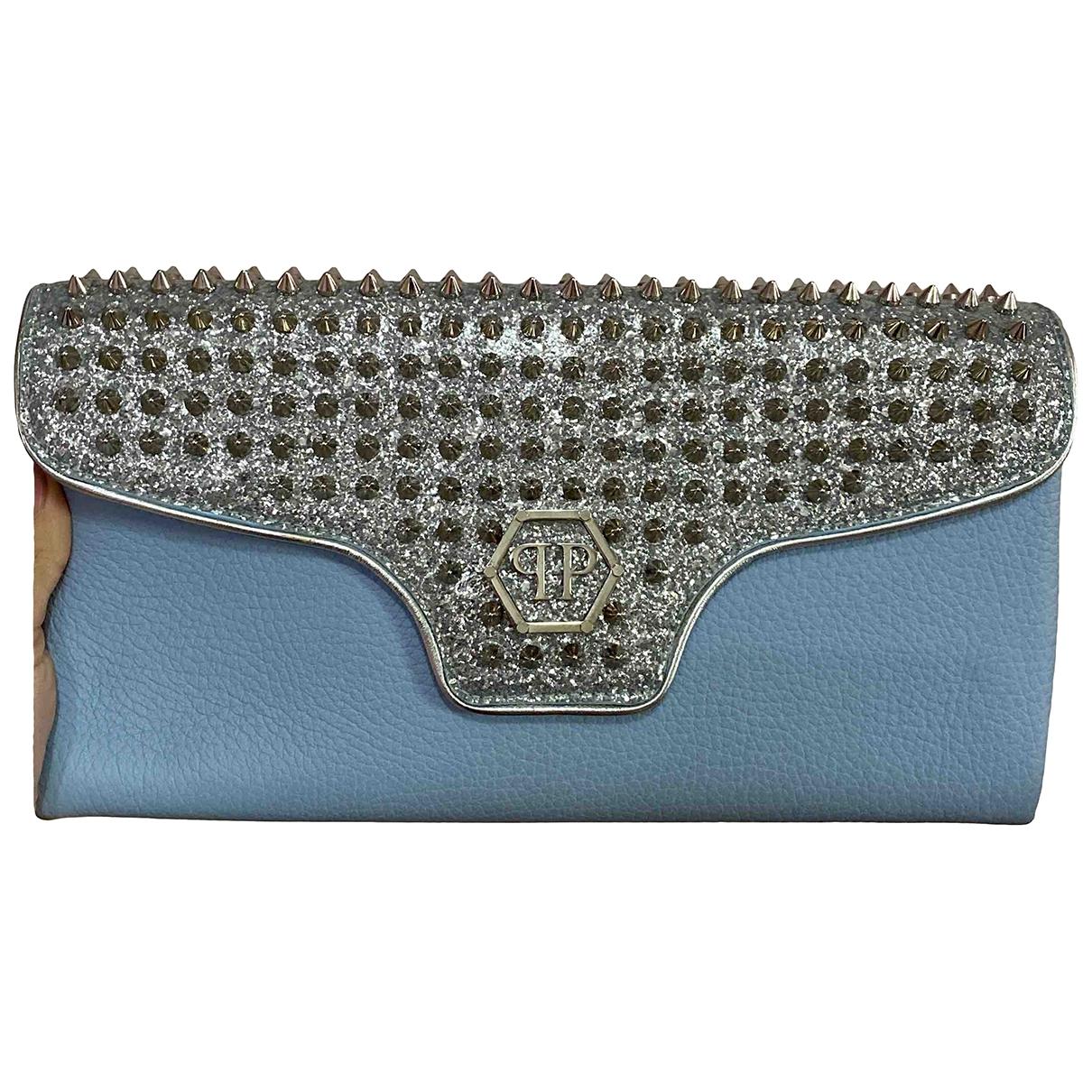 Philipp Plein - Pochette   pour femme en cuir - bleu