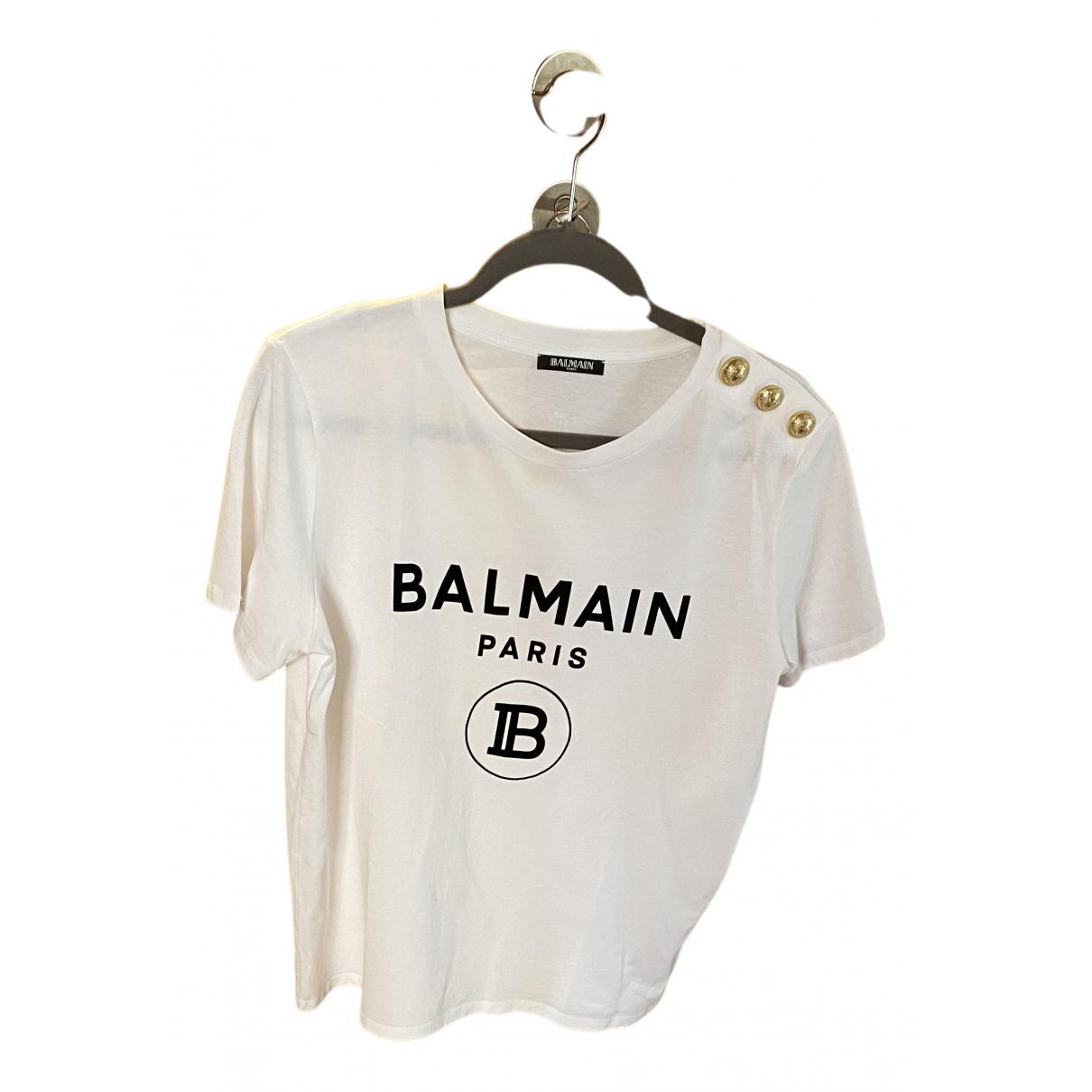 Balmain N White Cotton  top for Women 42 FR