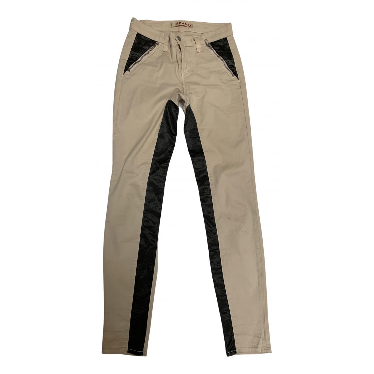 J Brand N Beige Cotton Trousers for Women 8 UK