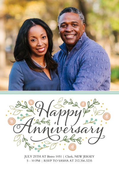 Anniversary Flat Matte Photo Paper Cards with Envelopes, 5x7, Card & Stationery -Flourishing Love