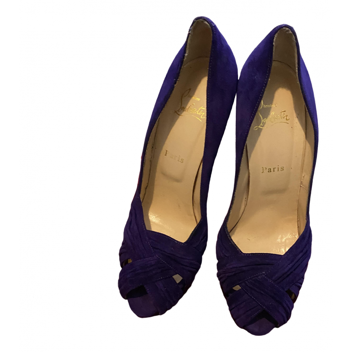Christian Louboutin \N Purple Suede Heels for Women 41 EU