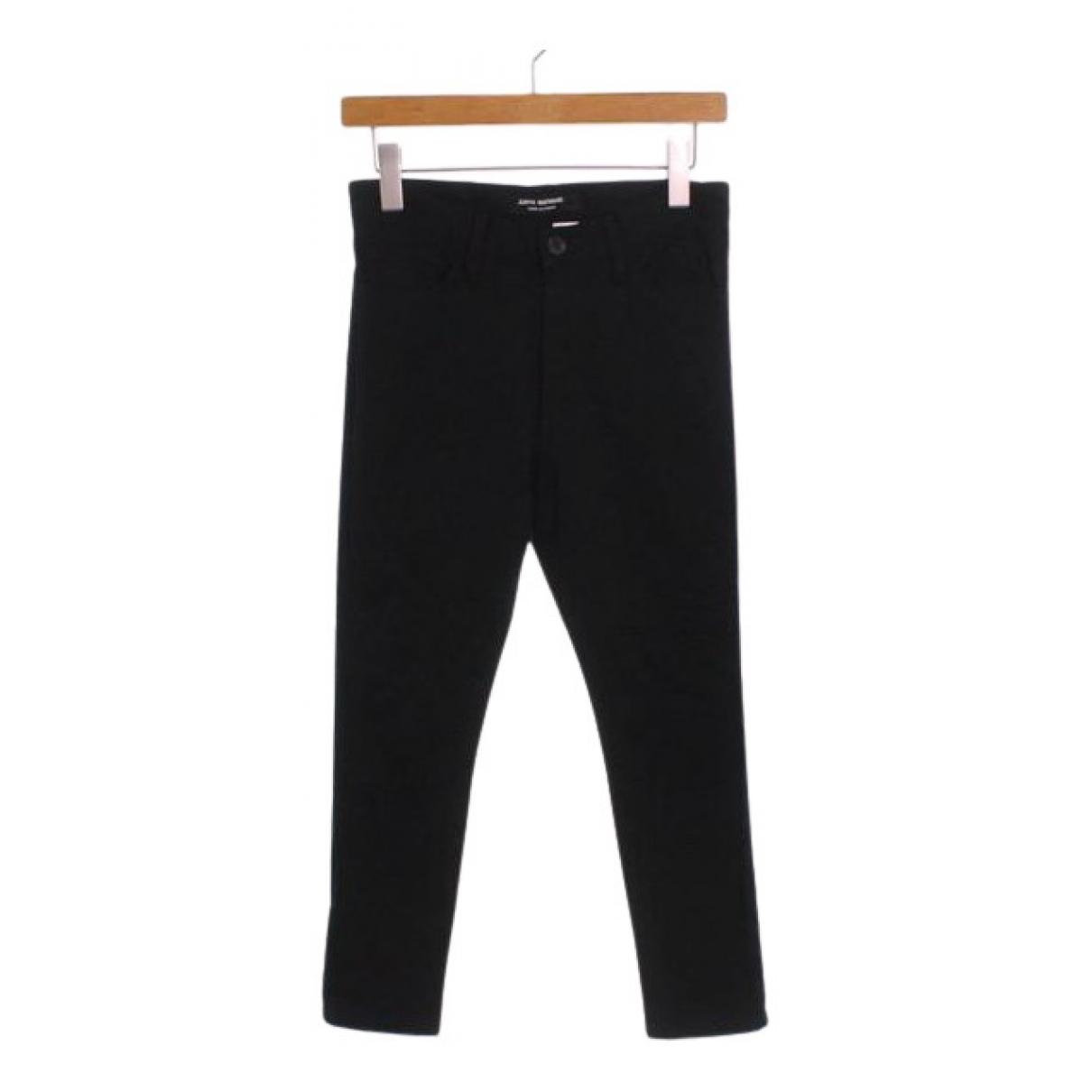 Comme Des Garcons N Black Cotton Trousers for Women XS International