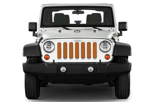 Jeep Wrangler Grill Inserts 07-18 JK Crush Under The Sun Inserts INSRT-SLDCRUSH-JK