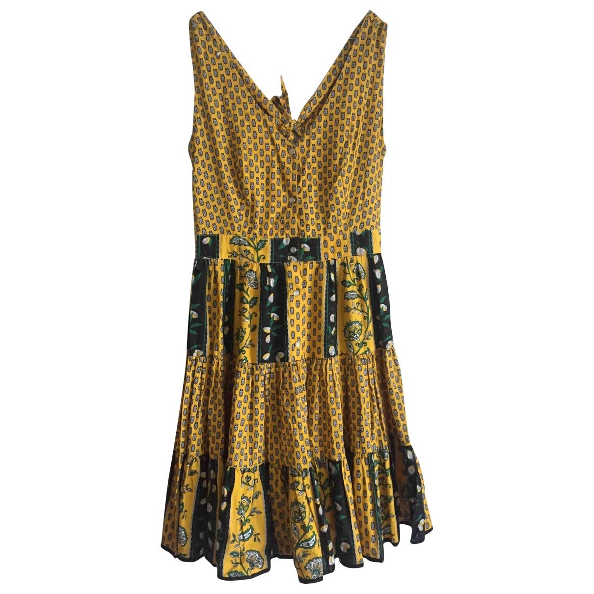 - Robe   pour femme en coton - jaune