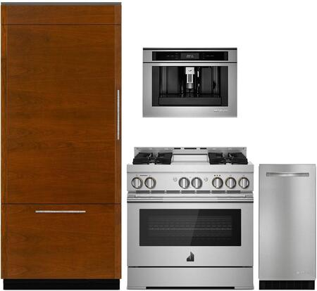 4 Piece Kitchen Appliances Package with JB36NXFXLE 36