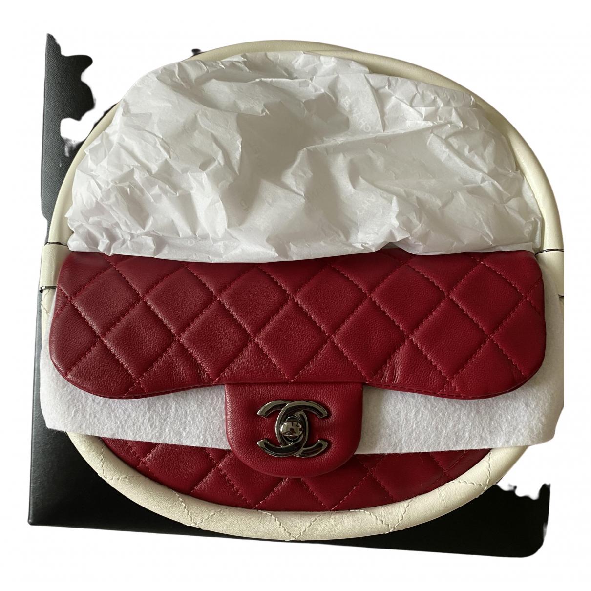 Chanel Hula Hoop Handtasche in  Rot Leder