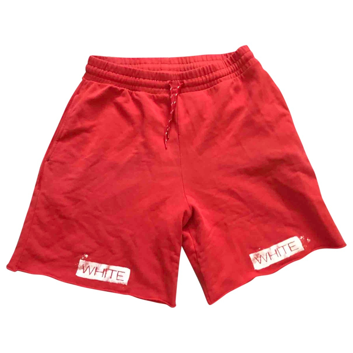 Off-white \N Red Cotton Shorts for Men XL International
