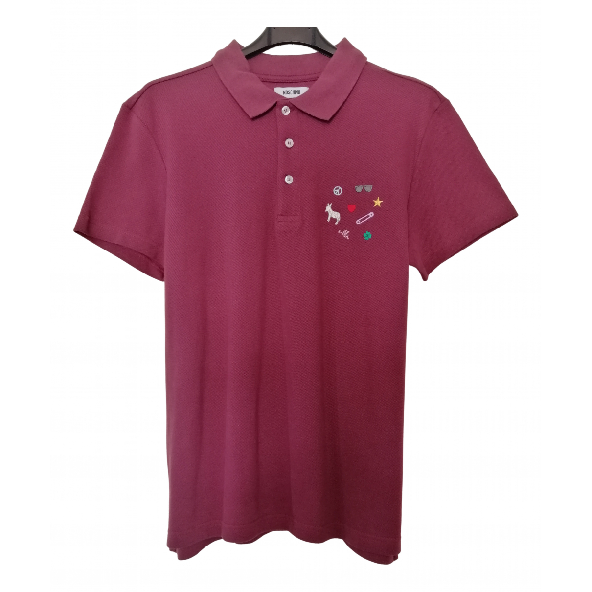 Moschino \N Poloshirts in  Bordeauxrot Baumwolle