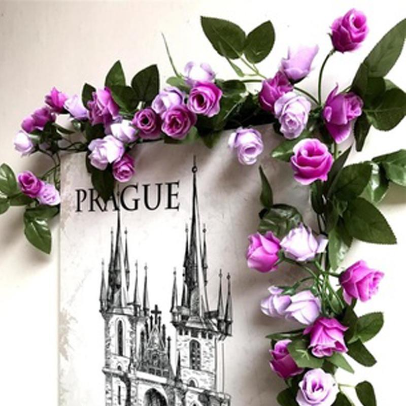 Artificial Rose Vine Home Hotel Office Wedding Party Garden Craft Art Decor