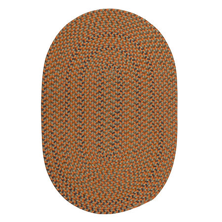 Colonial Mills Oregon Braided Oval Reversible Rugs, One Size , Brown