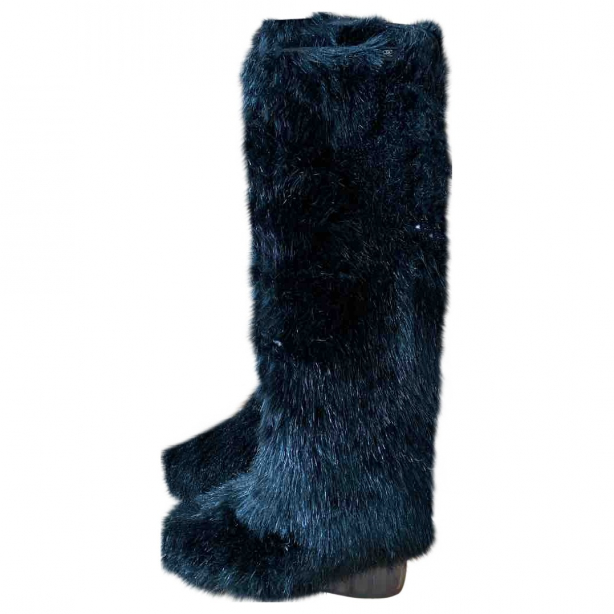 Chanel \N Black Faux fur Boots for Women 38 EU