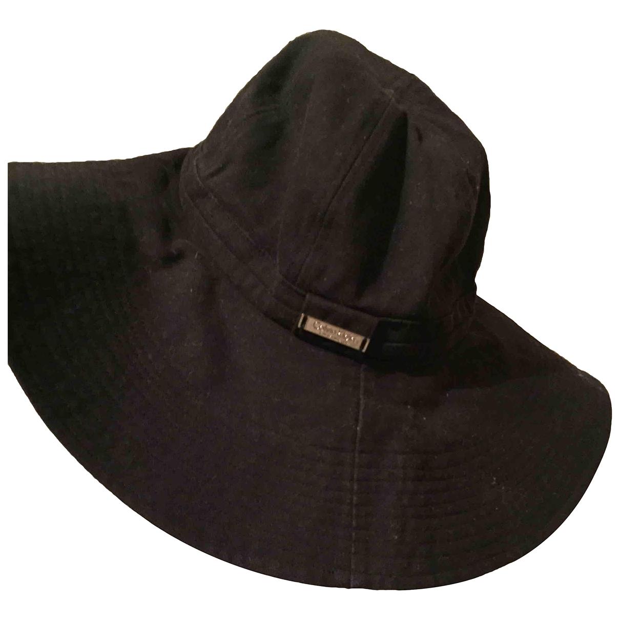 Calvin Klein - Chapeau   pour femme en coton - noir