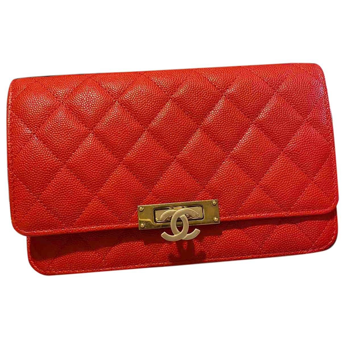 Mochila Wallet on Chain de Cuero Chanel