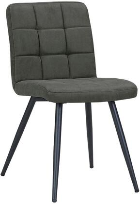 Bradford Collection BR9000-CH Accent Chair with Tufted Foam Filled Cushion  Powder Coated Metal Tapered Legs and Velvet Fabric Upholstery in Charcoal