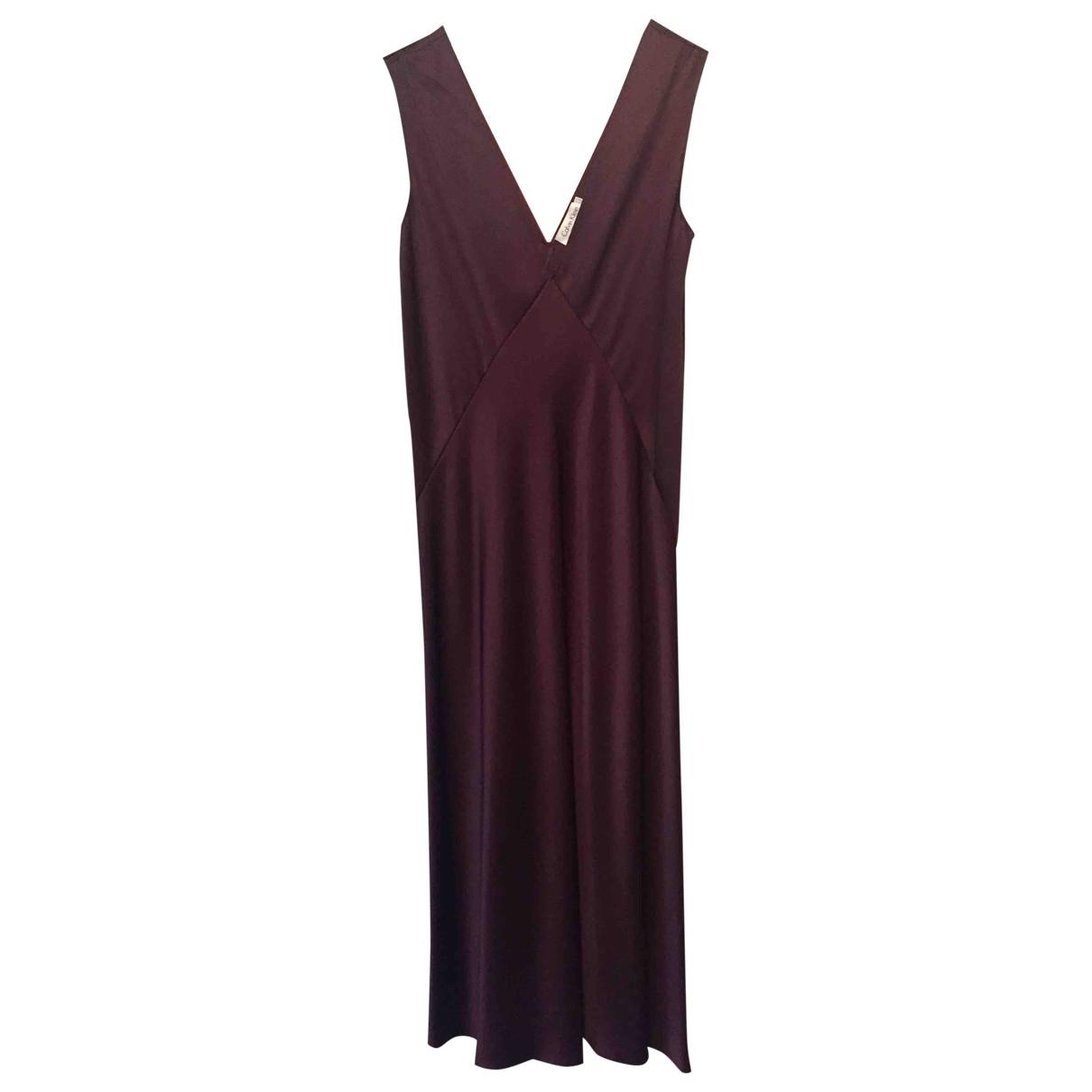 Calvin Klein \N Kleid in  Bordeauxrot Seide