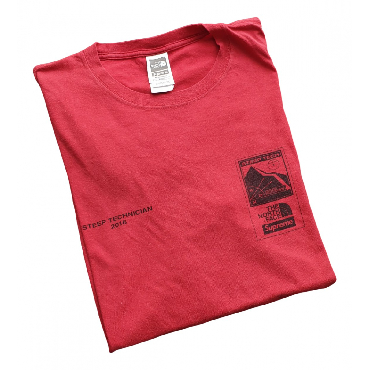 Supreme X The North Face \N Red Cotton T-shirts for Men XL International