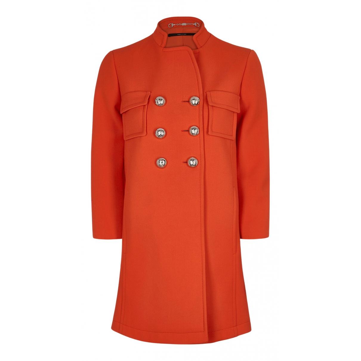 Gucci - Manteau   pour femme en laine - orange