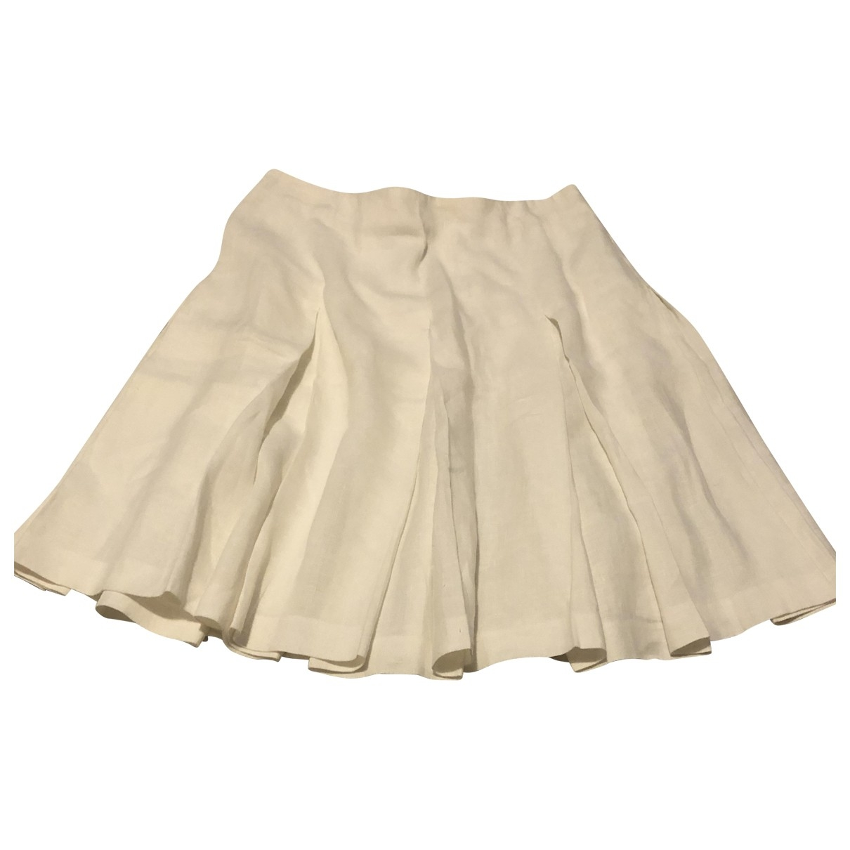 Aspesi \N White Linen skirt for Women 42 IT