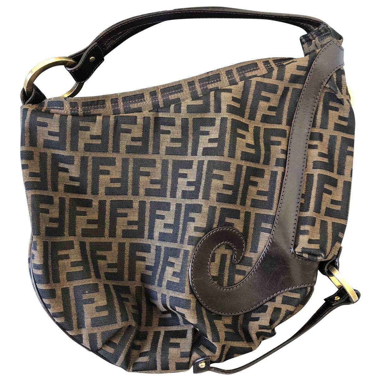 Fendi - Sac a main B Bag pour femme en toile - camel