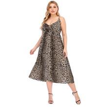 Plus Leopard Print Cami Dress