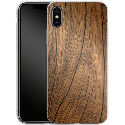 Apple iPhone X Silikon Handyhuelle - Wood von caseable Designs