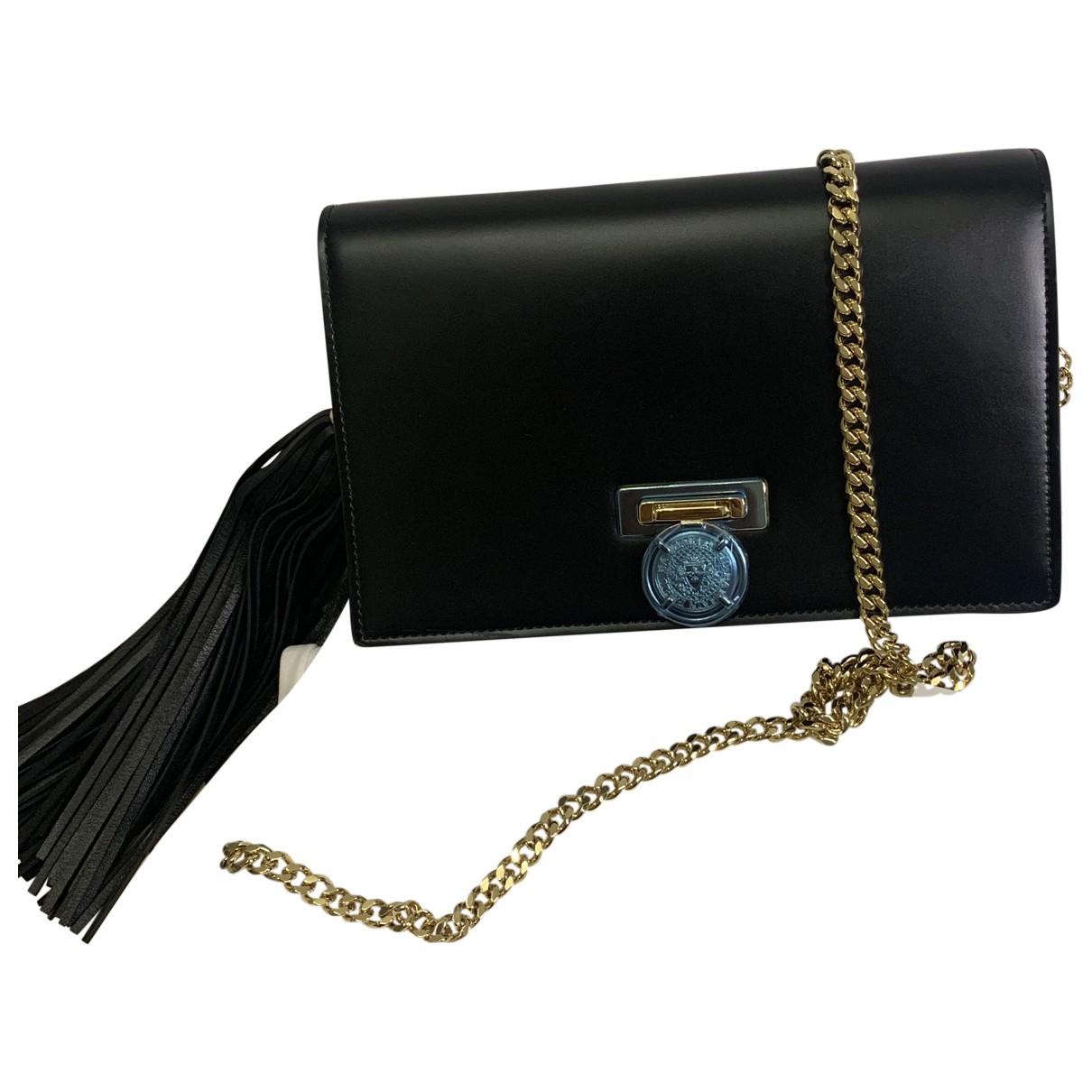 Balmain Ring box 20 Black Leather handbag for Women N