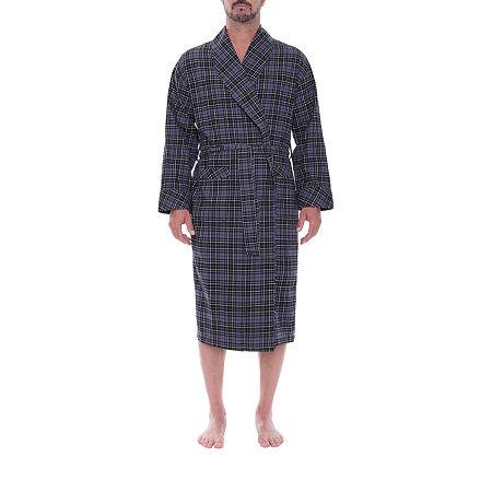 Residence Men'S Long Sleeve Robe-Tall, Large-x-large Tall , Black