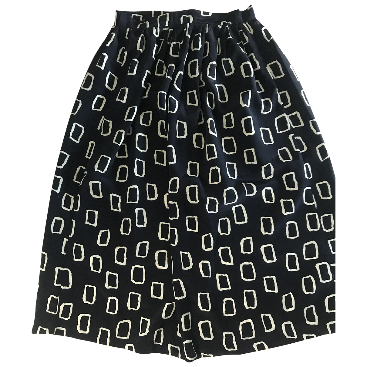 Non Signé / Unsigned \N Blue Silk skirt for Women 40 IT