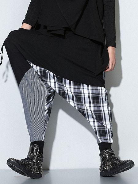 Milanoo Drop Crotch Harem Pants Dance Trousers For Men