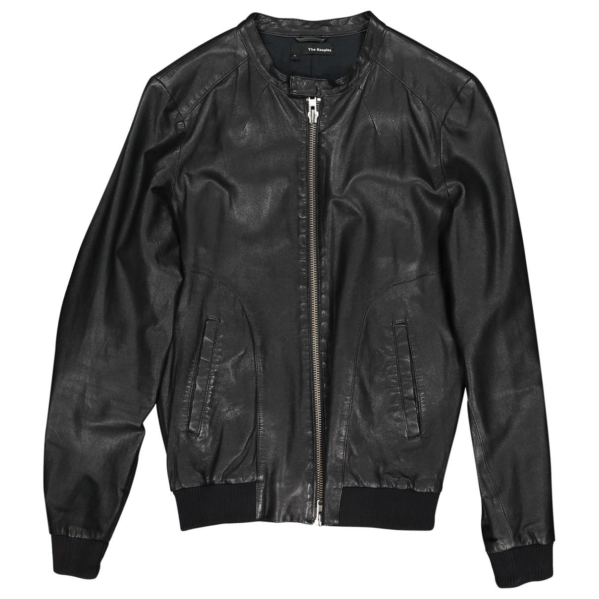 The Kooples \N Black Leather jacket  for Men S International