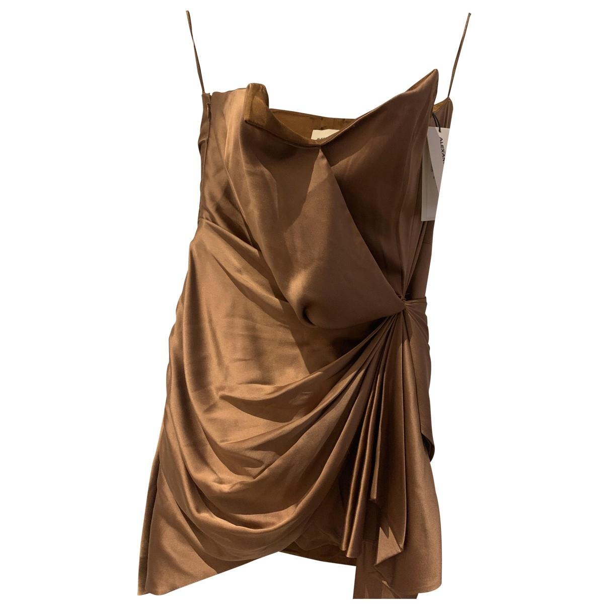Alexandre Vauthier \N Kleid in  Braun Seide