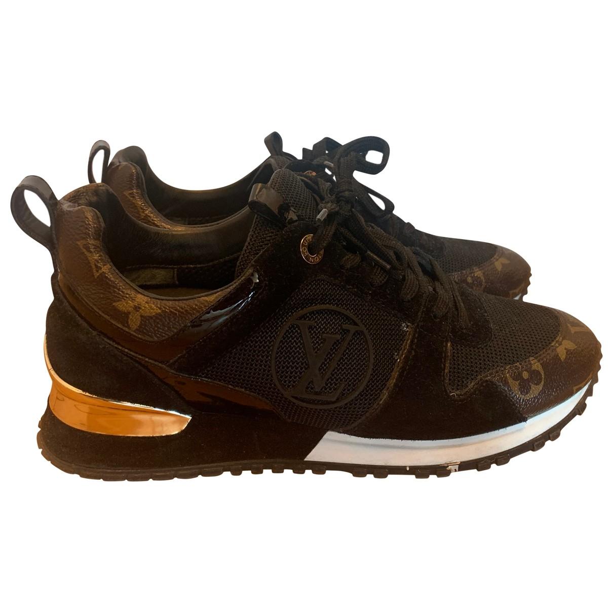 Louis Vuitton Run Away Brown Leather Trainers for Women 38 EU