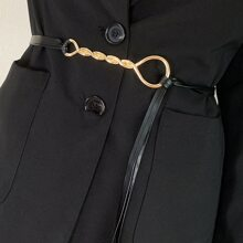 Cinturon con diseño girante metalico