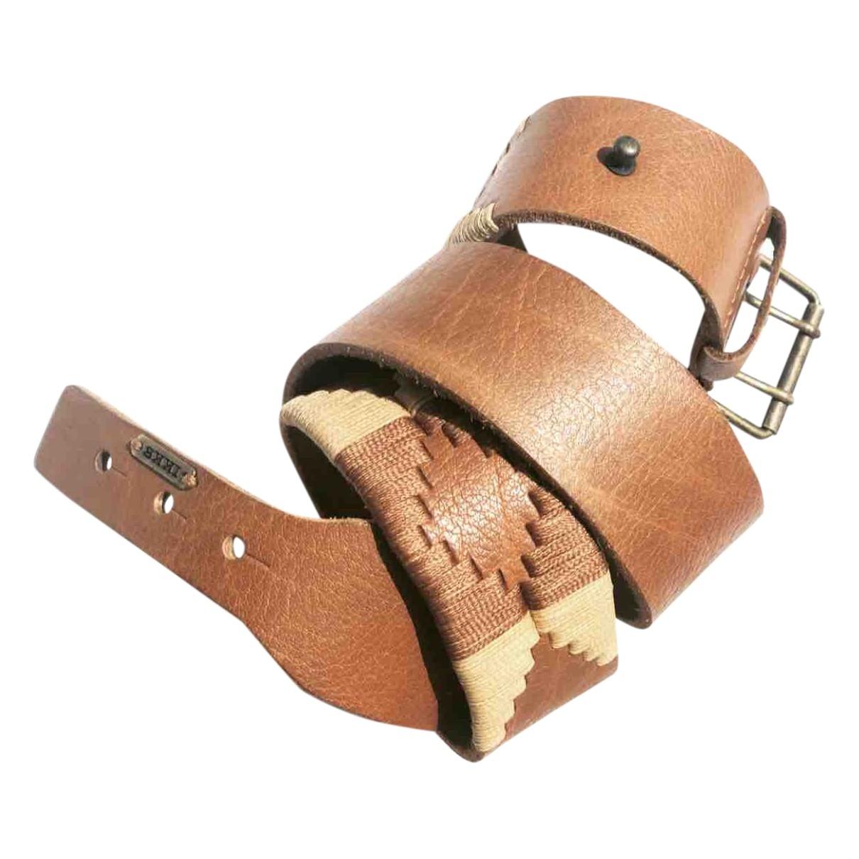 Ikks \N Brown Leather belt for Women M International
