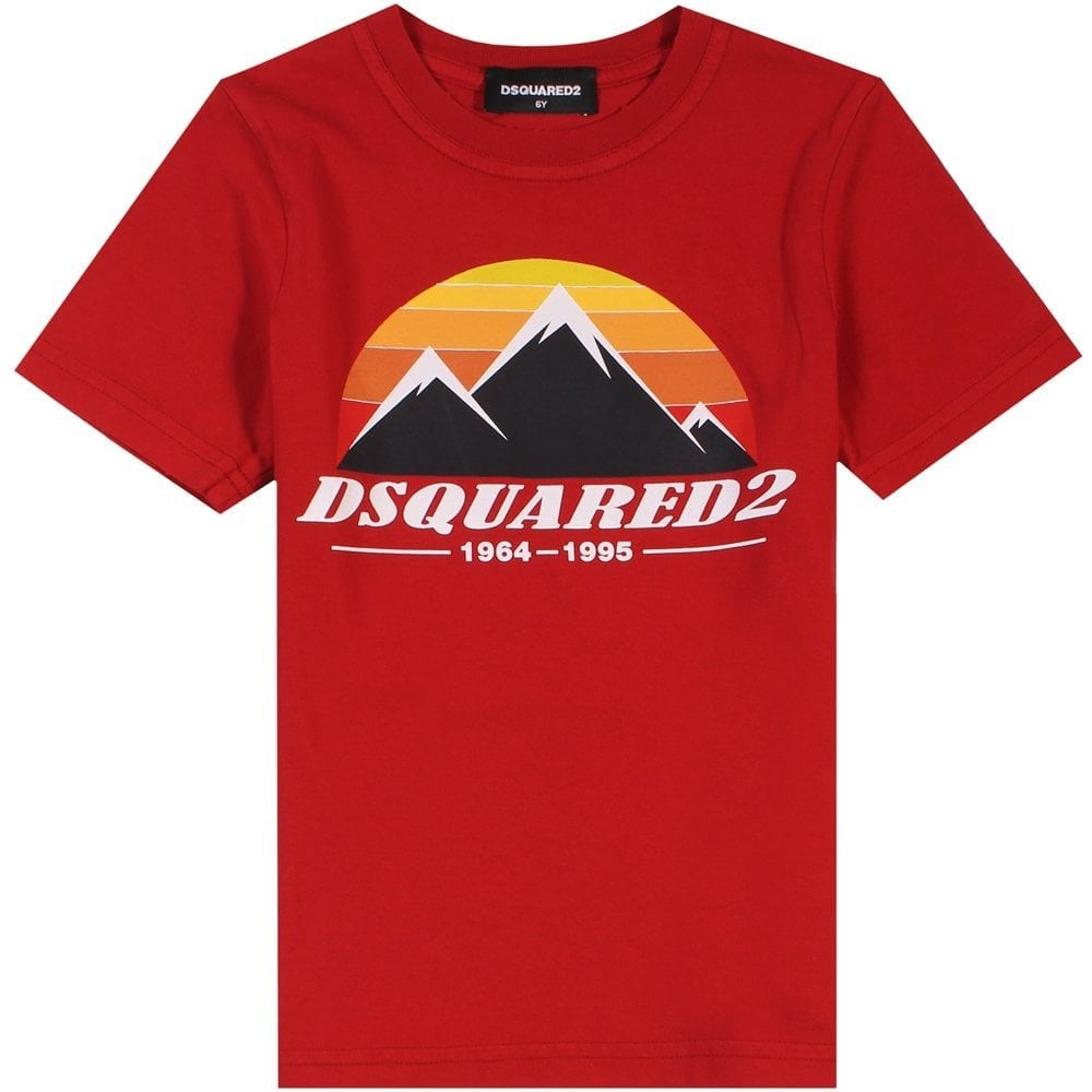 Dsquared2 Kids Mountain T-Shirt Red Colour: RED, Size: 4 YEARS