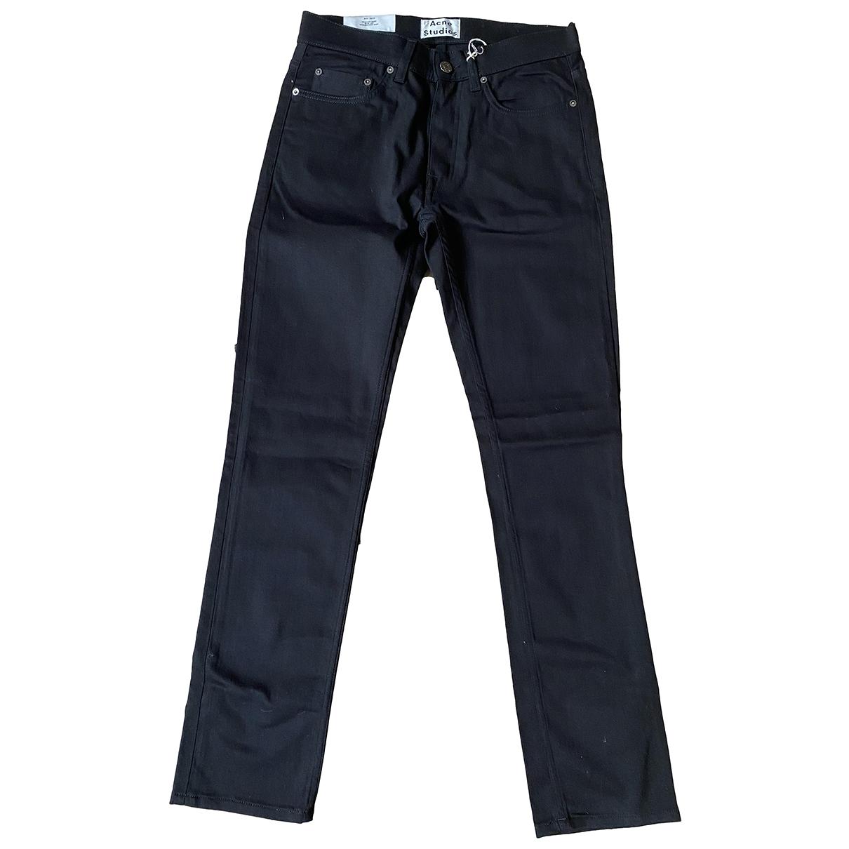 Acne Studios \N Black Cotton - elasthane Jeans for Men 30 US