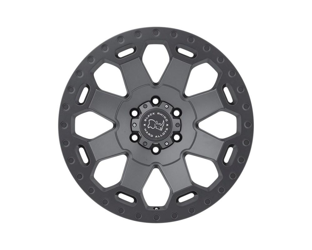 Black Rhino Warlord Matte Gunmetal Wheel 17x9 5x139.70|5x5.5 0mm CB78.1