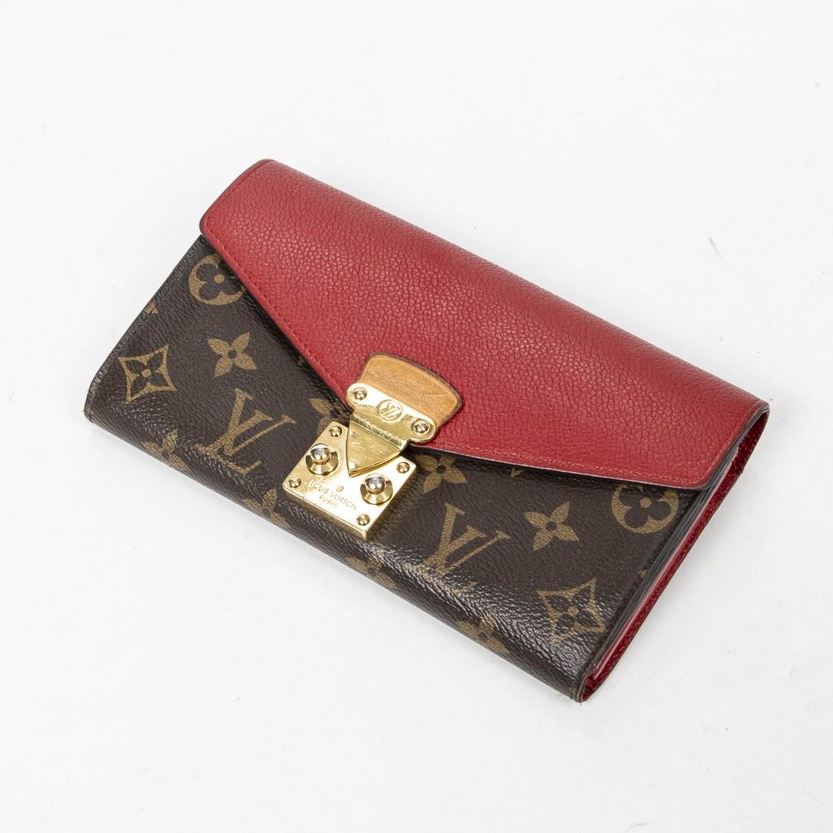 Louis Vuitton Pallas Portemonnaie in Leder